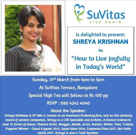 Sundays@SuVitas - Shreya Krishnan